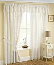 FIJI FULLY LINED CREAM LACE CURTAINS WITH BUTTERFLYS ~ Choice of Sizes