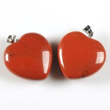 25mm Rock gemstone heart pendant focal bead  You choose quantity and stones