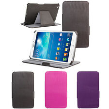 """Leather Multi-Angle Stand Cover Sleep/Wake Up Case For Samsung Galaxy Tab 3 8.0"""""""