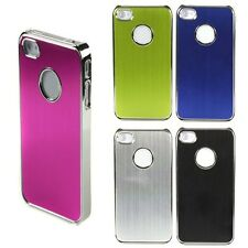 Fashion Aluminum Chrome Steel Hard Cover Back Case For Apple Iphone 4 4G 4S 4GS