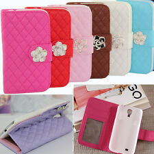 Luxury Leather Flip Wallet Stand Case Cover fr Samsung Galaxy S IV 4 mini I9190