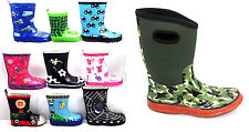 KIDS BOYS GIRLS WELLIES WELLINGTON BOOTS RAINY BOOTS SNOW BOOTS SIZE UK KIDS 4-2