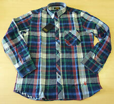SALE SIZE M RETRO MOD DOUBLE SIDED CHECK/GINGHAM SHIRT Mod 70s Indie Vintage Z91