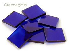 Cobalt Blue Cathedral Fusible 96 coe Mosaic Glass Tile Cut to Order Shapes Pack
