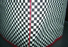 Black White Checkered Square Quilted Fabric 2-Slice or 4-Slice Toaster Cover NEW