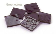 Lavender Cathedral Rough Rolled Mosaic Glass Tile Cut to Order Shapes Half Pack