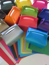 50 x GIFT BOXES AND x 2 TISSUE PAPER FAVOUR PICNIC LUNCH MEAL BOX - PARTY FOOD