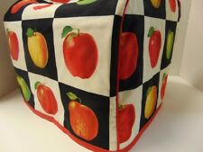 Apple Blocks Quilted Fabric 2-Slice or 4-Slice Toaster Cover NEW