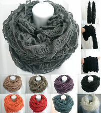 NEW womens knit crochet circle infinity tube scarf snood long scarf shawl wrap