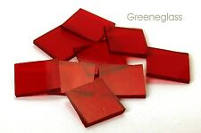 Ruby Red Cathedral Fusible 96 coe Mosaic Glass Tile Cut to Order Shapes Package