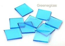 Sky Blue Cathedral Fusible 96 coe Mosaic Glass Tile Cut to Order Shapes Package
