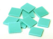 Turquoise Green Opal Fusible 96 coe Mosaic Glass Tile * Cut to Order * Half Pack