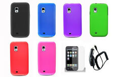 LCD +CC+ Soft Silicone Cover Case for Samsung Galaxy S Fascinate SCH-i500v Phone
