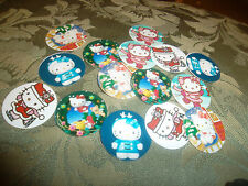 PRE CUT ONE INCH IMAGES HELLO KITTY CHRISTMAS HOLIDAY WINTER REE SHIPPING