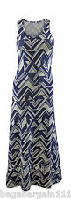 NEW MONSOON NAVY BLUE IVORY ABSTRACT GEOMETRIC EVENING PARTY JERSEY MAXI DRESS