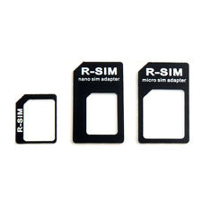 3 Adapters Nano SIM & Micro SIM & SIM Card Adapter Tray Holder for iphone4 /4S/5