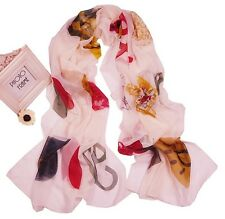 Big Women's Girl Fashion floral Long Oblong silk feel scarf shawl wrap