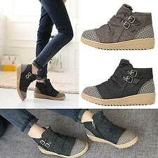 Womens Shoes Vintage Sneakers Ankle Boots High Top Korea  Fashion Made in Korea