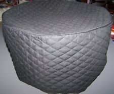 Black (or color choice) Quilted Fabric Oval 6 Qt Crock Pot Cover NEW