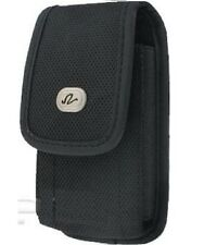 New Black Horizontal Leather Pouch Holster Swivel Belt Clip Case for Cell Phones