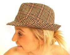 Campbell Cooper Brand New Traditional Classic Tweed Country Trilby Hat Brown