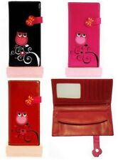 GIFT BOXED TAWNY OWL FAUX LEATHER PURSE IN RED PINK OR BLACK #105LONG