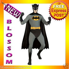 C824 Licensed Batman 2nd Skin Suit Zentai Halloween Fancy Dress Adult Costume