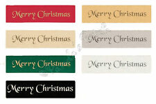 Merry Christmas Satin Ribbon 10mm, 25mm Choose Colour, Width and Length Required