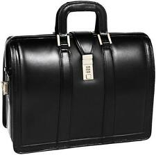 "McKlein USA MORGAN V series Leather 17"" Litigator Laptop Brief,Lawyers Briefcase"