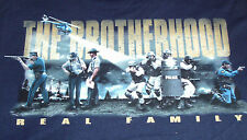 New Navy Blue T-Shirt with Brotherhood Real Family Law Officer Police Design