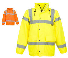 Mens Hi Visibility Road Safety Work Jackets & Coats By SITE KING Size S to 4XL