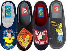 Mens Homer Simpson / Family Guy Mule Slippers Shoe Sizes 7-12 Dad Father Gift