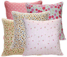 Soft Pure Cotton Flower Leaf Dot Pattern Cushion Cover/Pillow Case Custom Size