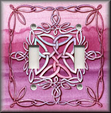 Light Switch Plate Cover - Celtic Knot - Pink - Medieval Home Decor