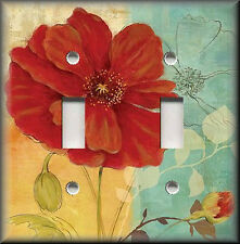 Light Switch Plate Cover - Poppy Flower In Bloom - Floral Home Decor