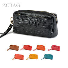 Stone Emboss Genuine Leather Womens Clutch Bag Wallet Purse Hand Shoulder Bags