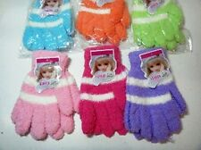 "CHILDRENS ""FUZZY"" MAGIC GLOVES GREAT COLORS FITS TODDLERS UP TO ADOLESCENTS"