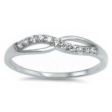 LATEST TREND! GIFT CZ INFINITY FASHION  .925 Sterling Silver Ring SIZES 5-9