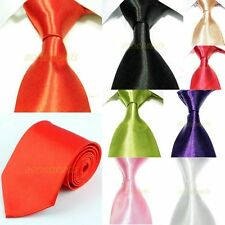 Men's Solid Candy Colors Jacquard Woven Classic Formal Wedding Party Necktie Tie