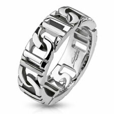 316L Stainless Steel Linked Chain Men's Band Ring Size 9-13