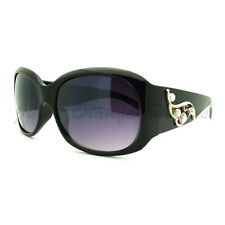 Rhinestone Decor Sunglasses Womens Thick Frame Fashion Shades