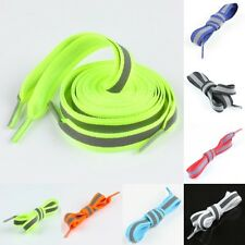 Flat Reflective High Visibility Shoelaces Shoestring Sneakers Shoe Laces Strings