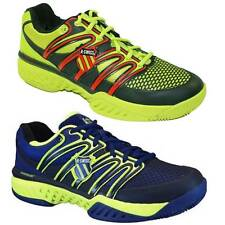 K-Swiss Big Shot Mens Pro Tennis Trainers Sneakers Shoes Blue Yellow Red Sport