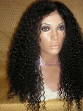 "14""-20"" New style Lace Wig Brazilian Kinky Curls 100% HUMAN HAIR Indian Remy"