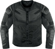 New Icon Overlord Resistance black armored motorcycle textile jacket