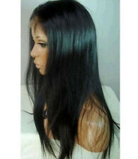"8""-22"" Silky Straight Lace Front Wig -100% Remy Human Hair 1#1b#2#4#1b/30# cheap"
