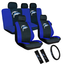 17pc Embroidered Seat Cover Set Universal Car Truck Van SUV 60/40 Split Bench