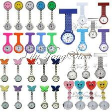 Fashion Smile Face Butterfly Heart Brooch Clip Quartz Fob Nurse Pocket Watch HOT