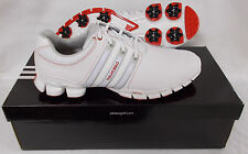 New Adidas Tour 360 ATV M1 Golf Shoes Q47082 - White/Metallic Silver/Red