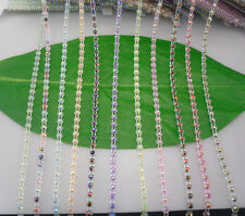 Applique SS12 jelly AB 3mm resin Rhinestone clear plastic banding Trim 10yards